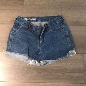 Madewell Jean cut off shorts
